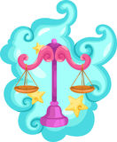 Signes de zodiaque - Balance illustration libre de droits