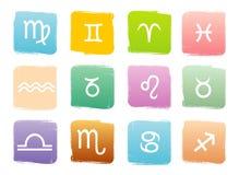 Signes de zodiaque d'horoscope illustration de vecteur