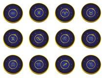 Signes de zodiaque d'icône. image libre de droits