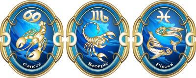 Signes de zodiaque de l'eau Images stock