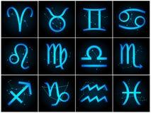 Signes de zodiaque de vecteur Photo libre de droits
