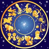 Signes de zodiaque, horoscope photo stock