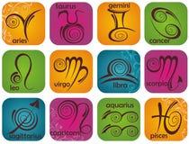 Signes de zodiaque réglés illustration stock
