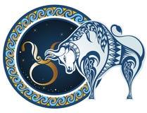 Signes de zodiaque - Taureau illustration libre de droits