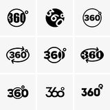 Signes of 360 degrees Stock Images