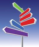 Signes directionnels Image stock