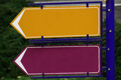 Signes directionnels Photos stock