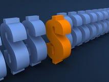 Signes du dollar illustration libre de droits