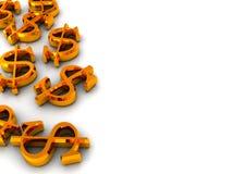 signes du dollar de fond illustration libre de droits