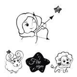 Signes du feu du zodiaque Image libre de droits