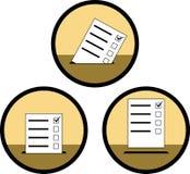 Signes du vote Photos libres de droits