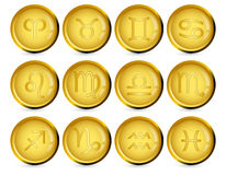 Signes du zodiaque Photographie stock libre de droits