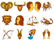 Signes du zodiaque Image libre de droits