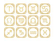 Signes du zodiaque illustration de vecteur