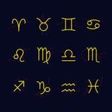 Signes du zodiaque Images libres de droits
