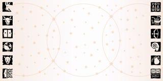 Signes du zodiaque - horizontal Photographie stock libre de droits