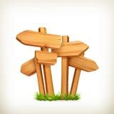 Signes en bois Photographie stock libre de droits