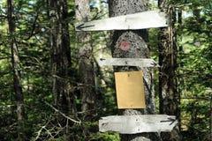 Signes en bois Images libres de droits