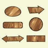 Signes en bois Image stock