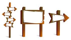 Signes en bois blanc illustration de vecteur