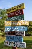 Signes en bois colorés de parc Image libre de droits