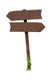Signes en bois d'isolement Photo stock