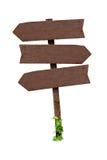 Signes en bois d'isolement Image libre de droits