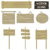 Signes en bois Ensemble de vecteur d'enseignes en bois illustration de vecteur