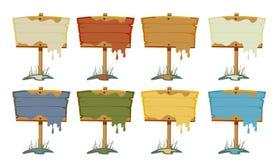 Signes en bois peints Images libres de droits