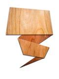 Signes en bois pour la lettre Image stock
