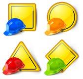 Signes et casques de route Photos libres de droits