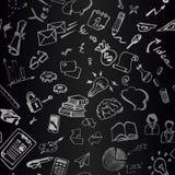 Signes et dessins d'affaires sur le conseil Configuration sans joint Fond arrière Photo libre de droits