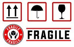 Signes et estampilles fragiles Photos libres de droits
