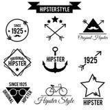 Signes et icônes de style de hippie Photos stock