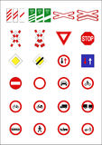 Signes et indicateurs de route Photos stock
