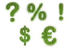 Signes faits en herbe verte Images stock