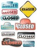 Signes fermés lustrés de mémoire photo stock