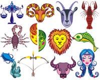 Signes graphiques du zodiaque drôle illustration libre de droits