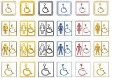 Signes handicapés Photographie stock libre de droits