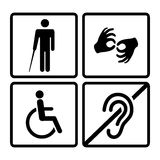 Signes handicapés par vecteur Photos libres de droits