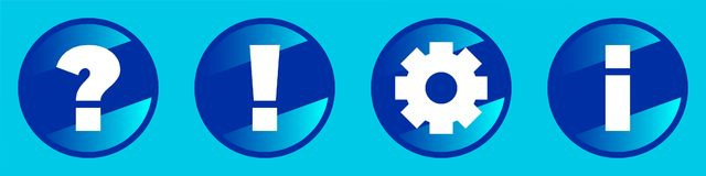 Signes, icônes, Images libres de droits