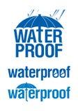 Signes imperméables à l'eau. Photos libres de droits