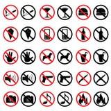 Signes interdits Images stock