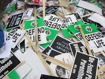 Signes jetés Images libres de droits