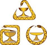 Signes médicaux - une cuvette et un serpent illustration libre de droits