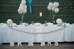 Signes mémorables pour un mariage inoubliable Photographie stock libre de droits