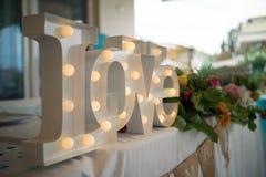 Signes mémorables pour un mariage inoubliable Images stock