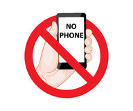 Signes menaçants aucun téléphone illustration de vecteur
