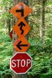 Signes multiples de traînée d'ATV et de motoneige images stock