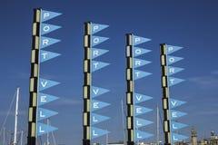 Signes multiples de Vell de port images libres de droits